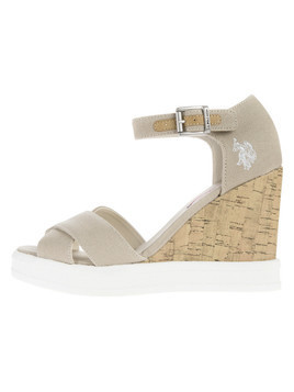 U.S. Polo Assn Norma1 Buty wedge Szary