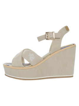 U.S. Polo Assn Rosy Smart Buty wedge Beżowy