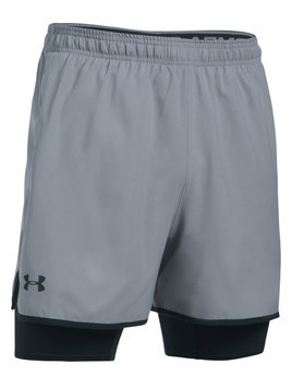 Under Armour Qualifier 2-in-1 Spodenki Szary
