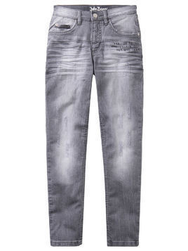 Dżinsy ze stretchem Slim Fit bonprix szary denim