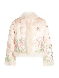 Embroidered Silk Jacket with Feathers Gr. IT 38