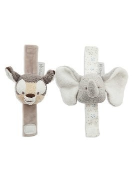 Disney Store Dumbo and Bambi Baby Wrist Rattles, 2 pack