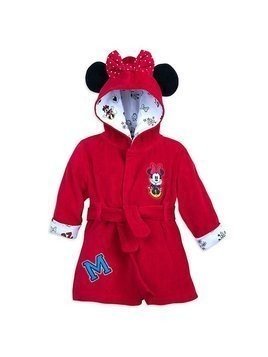 Disney Store Minnie Mouse Baby Bath Robe - 0-3 Months
