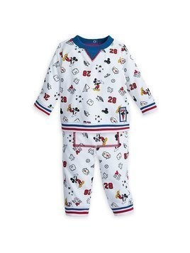 Disney Store Mickey Mouse Baby Long-Sleeved Top and Bottoms Set - 0-3 Months