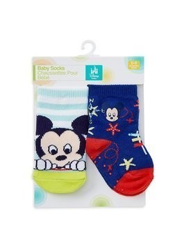 Disney Store Mickey Mouse Baby Socks, 2 Pairs