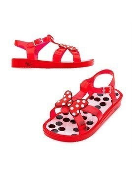 Minnie Rocks The Dots Jelly Shoes For Kids - Kids Shoe Size 10