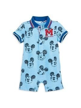 Disney Store Mickey Mouse Short Leg Baby Romper - 0-3 Months