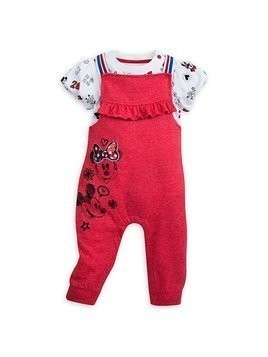 Disney Store Minnie Mouse Long Leg Baby Romper Set - 0-3 Months