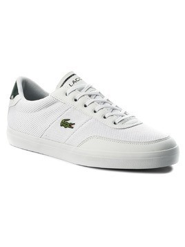 Sneakersy LACOSTE - Court-Master 118 3 Cam 7-35CAM01201R5 Wht/Dk Grn