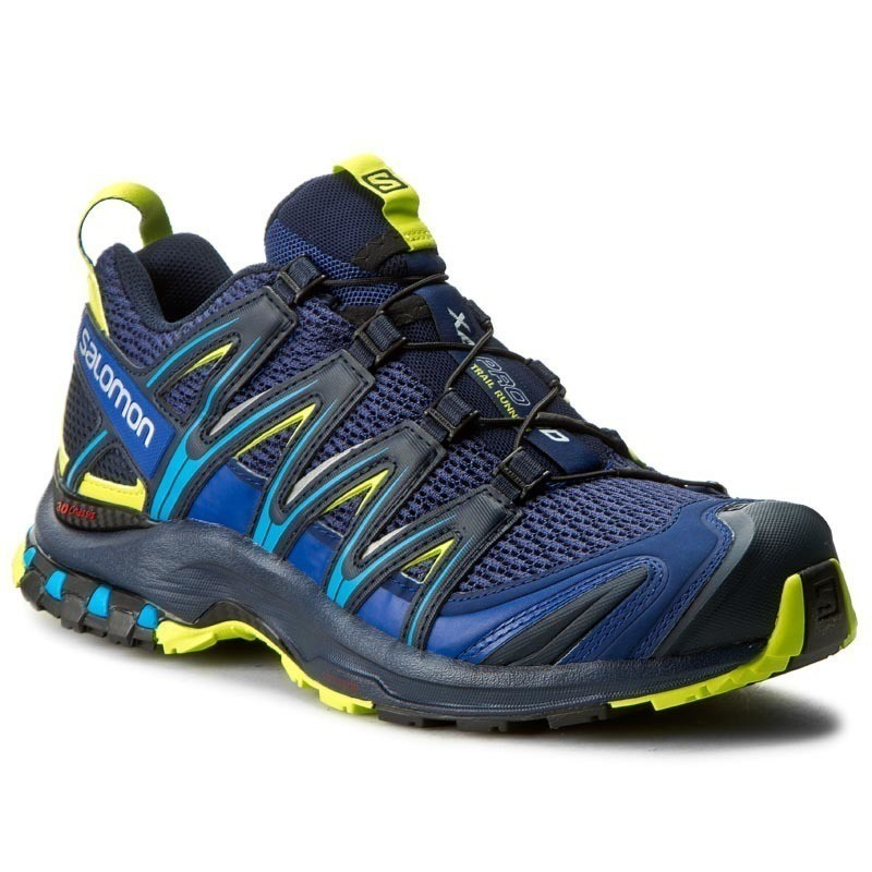 Buty SALOMON - Xa Pro 3D 392518 28 W0 Blue Depths/Navy Blazer/Lime Punch