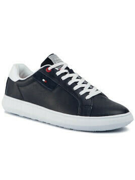 Sneakersy TOMMY HILFIGER - Essential Leather Cupsole FM0FM02581 Desert Sky DW5