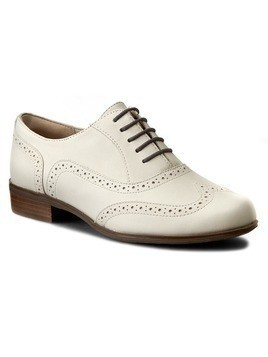 Oxfordy CLARKS - Hamble Oak 261228034 White Leather