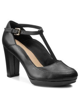 Półbuty CLARKS - Kendra Daisy 261267994 Black Leather