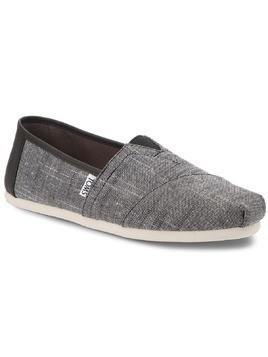 Półbuty TOMS - Classic 10011577 Black Textured Chambray/Trim