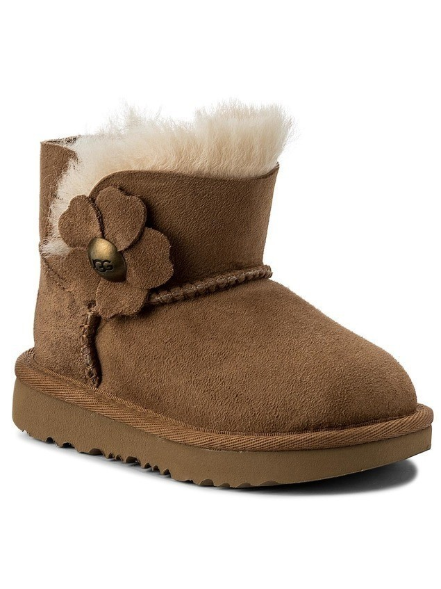 Buty UGG - T Mini Bailey Button Poppy 1092387T T/Che