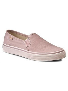 Tenisówki KEDS - Double Deck WH54679 Leather Pink