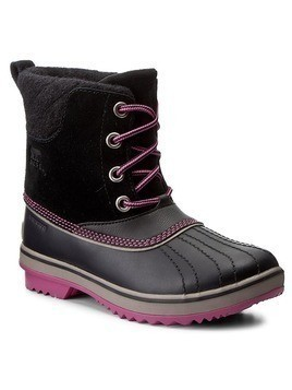 Śniegowce SOREL - Youth Slimpack II Lace NY2416 Black/Kettle 011