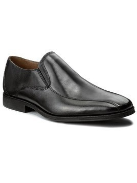 Półbuty CLARKS - Gilman Slip 261297687 Black Leather