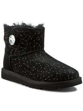 Buty UGG - W Mini Bailey Button Bling Constellation 1008822 Blk