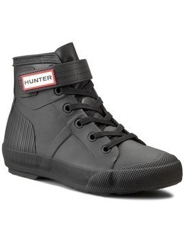 Sneakersy HUNTER - Womens Orig Hi-Top WFK1004RMA Black