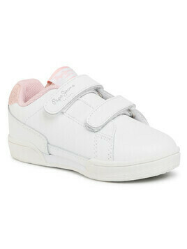Sneakersy PEPE JEANS - Lambert Basic Girl PGS30459 White 800