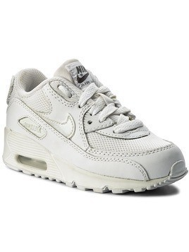 Buty NIKE - Air Max 90 Mesh (PS) 724825 100 White/White/Cool Grey