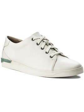 Półbuty CLARKS - Stanway Lace 261280067 White Leather