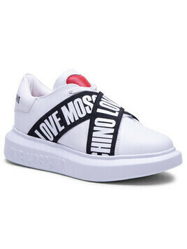 Sneakersy LOVE MOSCHINO - JA15254G1CIA0100 Bianco