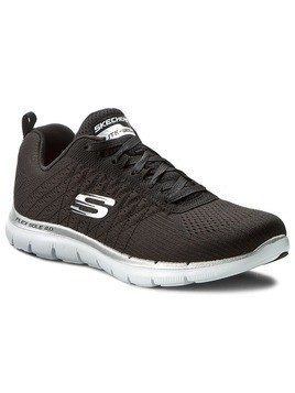 Buty SKECHERS - Break Free 12757/BKW Black/White