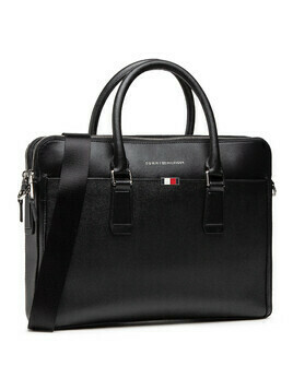 Torba na laptopa TOMMY HILFIGER - Business Leather Slim Comp AM0AM06842 BLK