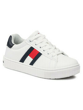 Sneakersy TOMMY HILFIGER - Low Cut Lace T3B4-30921-0900 M White/Blue X336