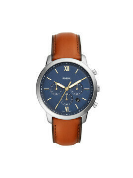 Zegarek FOSSIL - Neutra Chrono FS5453 Brown/Silver