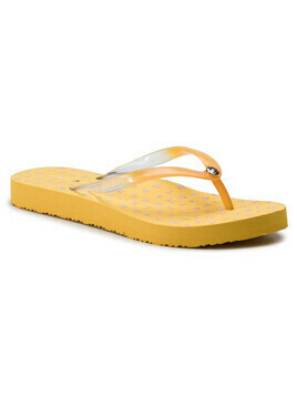 Japonki TOMMY HILFIGER - Colorful Tommy Flat Beach Sandal FW0FW04240 Spectra Yellow 730
