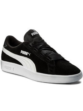 Sneakersy PUMA - Smash V2 Ribbon Jr 366003 01 Puma Black/Puma White