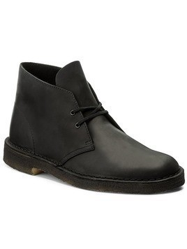Trzewiki CLARKS - Desert Boot 261036837 Blk Smooth Lea