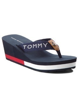 Japonki TOMMY HILFIGER - Corporate Beach Sandal FW0FW02958 Midnight 403