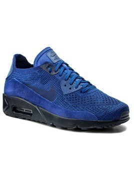 Buty NIKE - Air Max 90 Ultra 2.0 Flyknit 875943 402 Racer Blue/Deep Royal Blue
