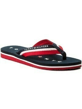 Japonki TOMMY HILFIGER - Tommy Loves Ny Beach Sandal FW0FW02370 Midnight 403