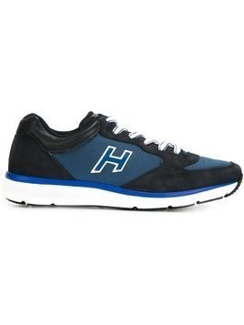 Hogan panelled logo sneakers - Blue