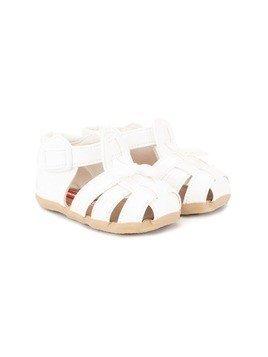 Miki House strappy closed toe sandals - White