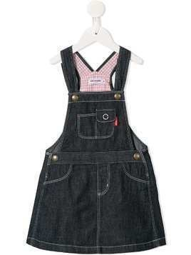 Miki House denim pinafore dress - Blue