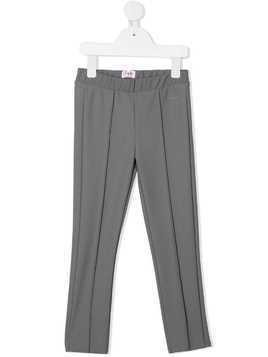 Il Gufo high-waisted straight leg trousers - Grey