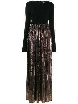 Just Cavalli sequin skirt gown - Black