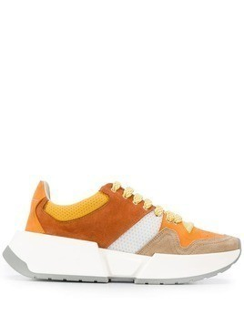 Mm6 Maison Margiela panelled sneakers - Orange