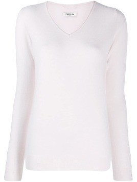 Max & Moi v-neck cashmere sweater - PINK
