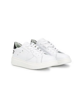 Philippe Model Kids flat lace-up sneakers - White