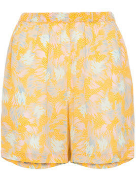 A Peace Treaty Yuna print crepe shorts - Yellow & Orange