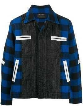 Craig Green checked boxy jacket - Blue