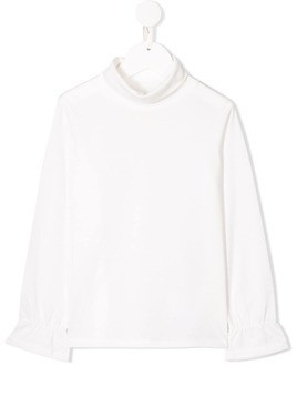 Douuod Kids roll neck top - White