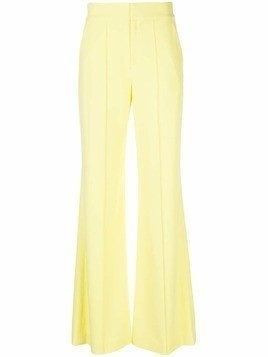 Alice+Olivia high waisted flared leg pants - Yellow
